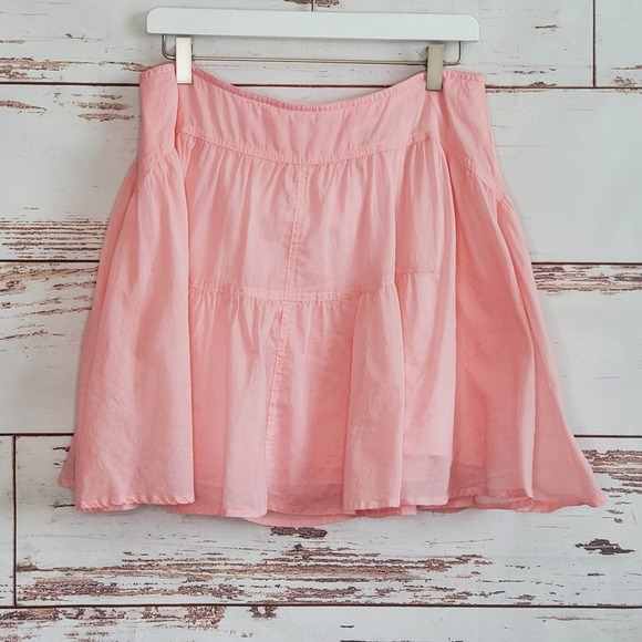 Cotton Voile Tiered Mini Skirt J. Crew PInk 12